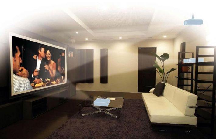 cum puteti instala un ecran de proiectie in home cinema. Black Bedroom Furniture Sets. Home Design Ideas